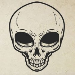 Samolepky na zeď Lebka mimozemšťana 1219