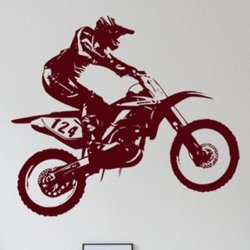 Samolepky na zeď Motorka 008
