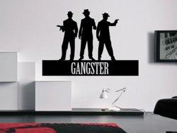 Samolepky na zeď Nápis Gangster 0237