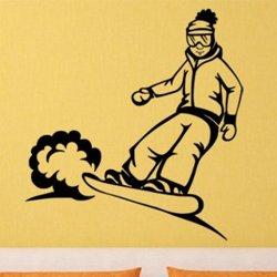 Samolepky na zeď Snowboardista 0967