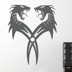 Samolepky na zeď Dračí dvojčata 001