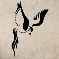 Samolepky na zeď Pták 015