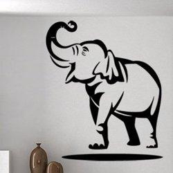 Samolepky na zeď Slon s chobotem nahoru 1151