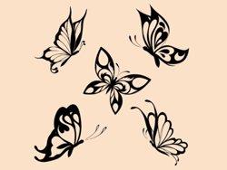 Samolepky na zeď Sada motýlů 002