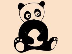 Samolepky na zeď Panda 005