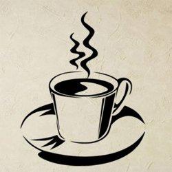 Samolepky na zeď Hrnek kávy 0057