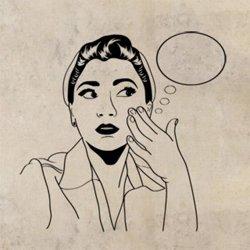 Samolepky na zeď Retro žena z komiksu 1061