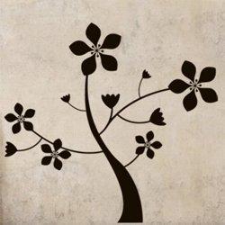 Samolepky na zeď Květina 0211
