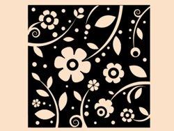 Samolepky na zeď Květiny 0215