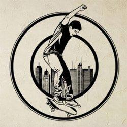 Samolepky na zeď Skateboardista 0951