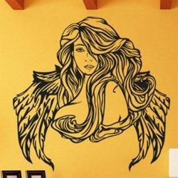 Samolepky na zeď Andělská žena 1240