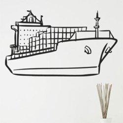 Samolepky na zeď Loď s kontejnery 0940