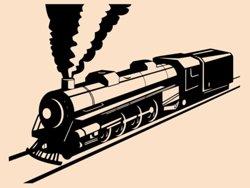 Samolepky na zeď Vlak 007