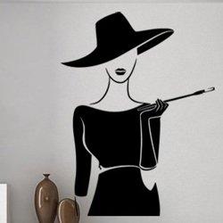 Samolepky na zeď Dáma s cigaretou 1084