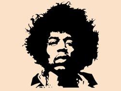 Samolepky na zeď Jimmy Hendrix 001