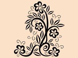 Samolepky na zeď Květiny 034