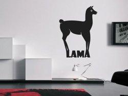 Samolepky na zeď Lama s nápisem 0620