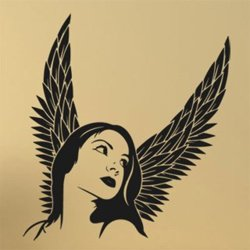 Samolepky na zeď Anděl žena 1235