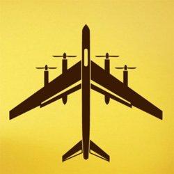 Samolepky na zeď Letadlo 0850