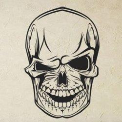 Samolepky na zeď Mrkající lebka 1157