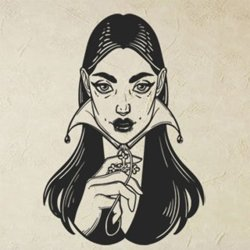 Samolepky na zeď Mystic girl 1099