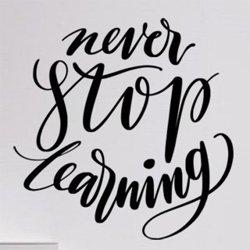 Samolepky na zeď Nápis Never Stop Learning 0642