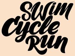 Samolepky na zeď Nápis Swin cycle run 0652