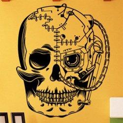 Samolepky na zeď Lebka kyborga 1215