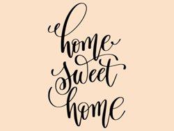 Samolepky na zeď Nápis Home Sweet Home 0632