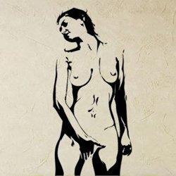 Samolepky na zeď Nahá žena 001