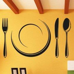 Samolepky na zeď Příbory a talíř 0089