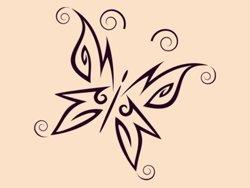 Samolepky na zeď Motýl 002