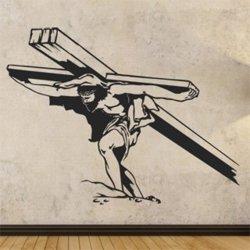 Samolepky na zeď Ježíš nese kříž 1384