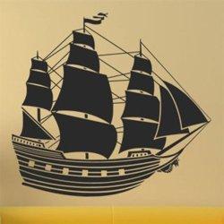 Samolepky na zeď Loď plachetnice 0915