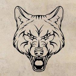 Samolepky na zeď Vlk 1415