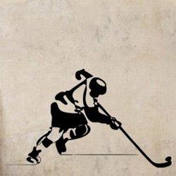 Samolepky na zeď Hokejista 0710