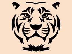 Samolepky na zeď Tygr 007