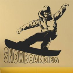 Samolepky na zeď Snowboardista 0965