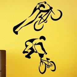 Samolepky na zeď BMX biker 1047