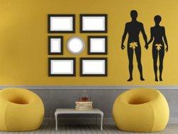 Samolepky na zeď Adam a Eva 001