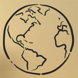 Samolepky na zeď Kontinenty na zemi 1224