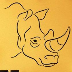 Samolepky na zeď Nosorožec 002