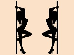 Samolepky na zeď Pole dance 0982