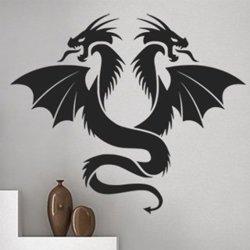 Samolepky na zeď Dvojhlavý drak 1267