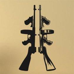 Samolepky na zeď 1120 Gangsterské zbraně