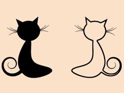 Samolepky na zeď Dvě kočky 0447